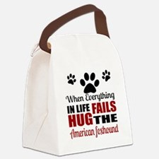 Hug The American Foxhound Canvas Lunch Bag