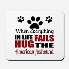 Hug The American Foxhound Mousepad