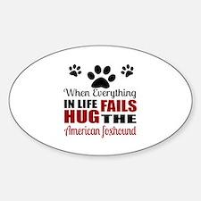 Hug The American Foxhound Decal