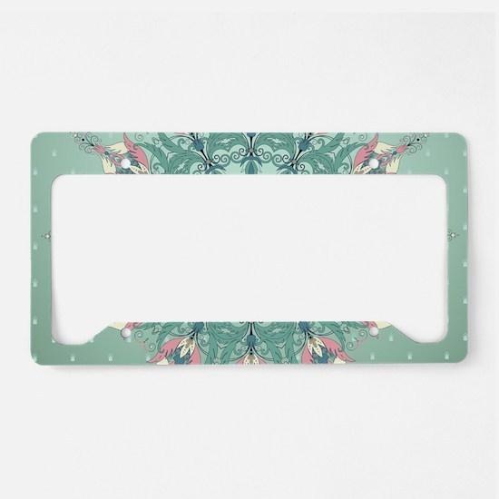 Vintage Floral License Plate Holder