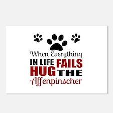 Hug The Affenpinscher Postcards (Package of 8)