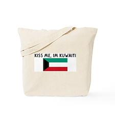 KISS ME IM KUWAITI Tote Bag