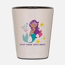 Purple Mermaid Shot Glass