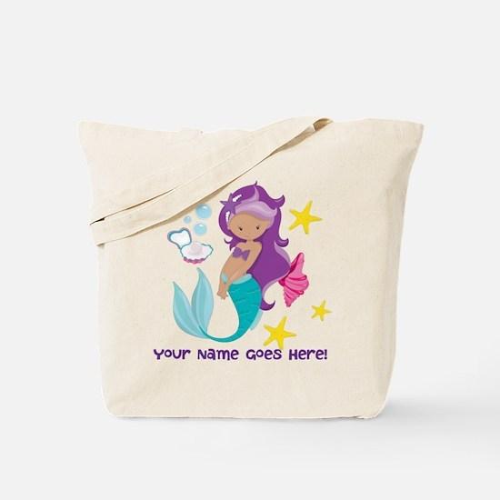 Purple Mermaid Tote Bag