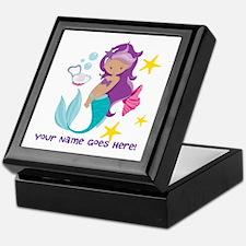 Purple Mermaid Keepsake Box