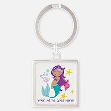 Purple Mermaid Keychains