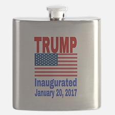 Trump Inaugurated January 20, 2017 Flask