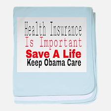 Keep Obama Care baby blanket
