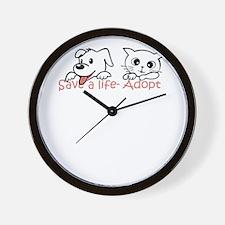 save a life adopt Wall Clock