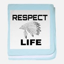 RESPECT LIFE baby blanket