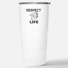 RESPECT LIFE Stainless Steel Travel Mug