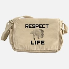 RESPECT LIFE Messenger Bag