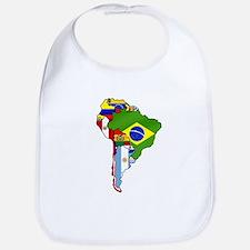 South America Flag Map Baby Bib