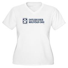 ENTLEBUCHER MOUNTAIN DOG Womes Plus-Size V-Neck T-