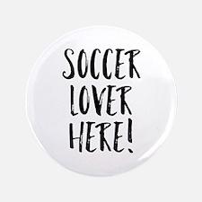 "Soccer Lover 3.5"" Button (100 pack)"