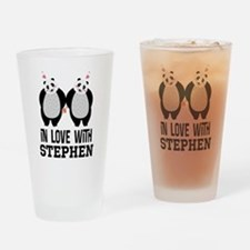 Personalized Couples Panda Bears Drinking Glass
