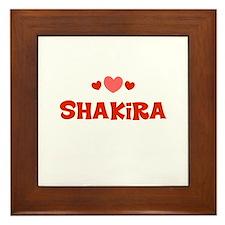 Shakira Framed Tile