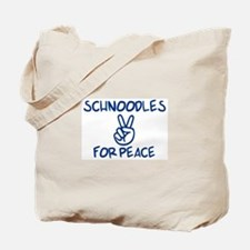 Schnoodles for Peace Tote Bag