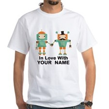 Funny His And Hers Personalized Robots T-Shirt
