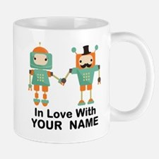 Funny His And Hers Personalized Robots Mugs