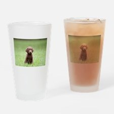 Chesapeake Bay Retriever Puppy Drinking Glass
