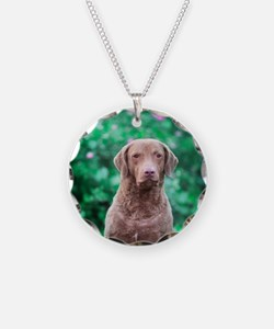 Chesapeake Bay Retriever Necklace Circle Charm