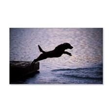 Chesapeake Bay Retriever Leaping Wall Decal