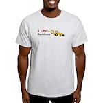 I Love Backhoes Light T-Shirt