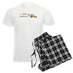 I Love Backhoes Men's Light Pajamas
