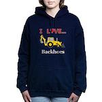 I Love Backhoes Women's Hooded Sweatshirt