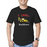 I Love Backhoes Men's Fitted T-Shirt (dark)