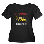 I Love B Women's Plus Size Scoop Neck Dark T-Shirt
