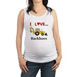 I Love Backhoes Maternity Tank Top