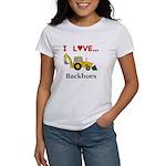I Love Backhoes Women's T-Shirt