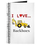 I Love Backhoes Journal
