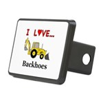 I Love Backhoes Rectangular Hitch Cover