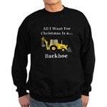 Christmas Backhoe Sweatshirt (dark)