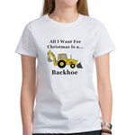 Christmas Backhoe Women's T-Shirt