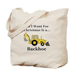 Christmas Backhoe Tote Bag
