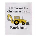 Christmas Backhoe Throw Blanket