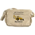 Christmas Backhoe Messenger Bag