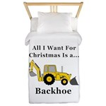 Christmas Backhoe Twin Duvet
