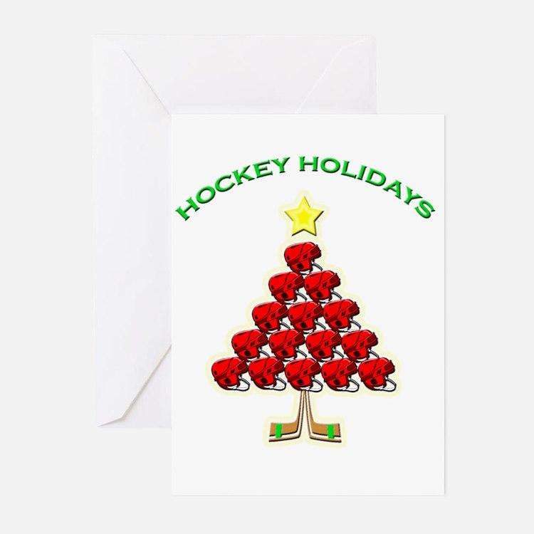 Happy Hockey Holidays Greeting Cards