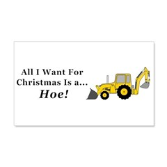 Christmas Hoe Wall Decal