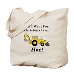 Christmas Hoe Tote Bag