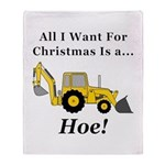 Christmas Hoe Throw Blanket