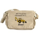 Christmas Hoe Messenger Bag