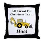 Christmas Hoe Throw Pillow