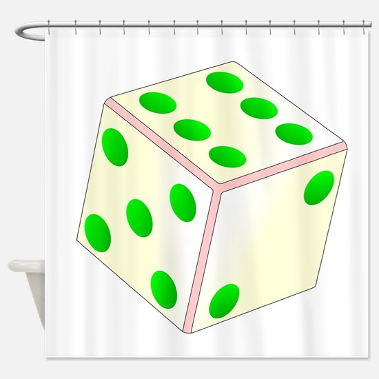 Tumbling Ivory Dice Shower Curtain