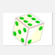 Tumbling Ivory Dice Postcards (Package of 8)